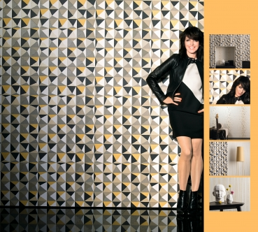 Marburg Wallcoverings Tapete NENA by marburg Vliestapete 57242 Grafik Rosa Silber Grau